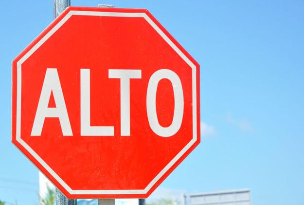 Alto sign Mexico