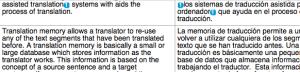Translation Memory Database