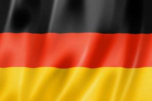 Germany flag, three dimensional render, satin texture