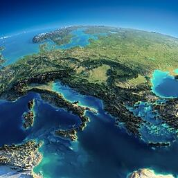 Map of Europe Italia