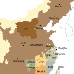 Map of sinitic languages