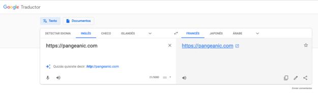 translate a website with Google Translate