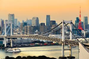 View of Yokohama Bridge - Kanto region, Tokyo